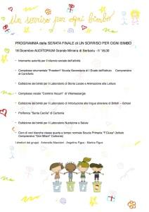 """Si conclude il 18 dicembre, a Carbonia, la manifestazione """"Un sorriso per ogni bimbo""""."""