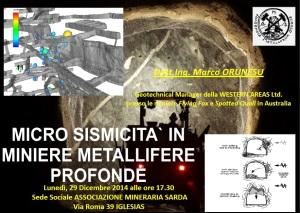 Questo pomeriggio, nella sede dell'Associazione Mineraria Sarda di Iglesias, conferenza dell'ing. Marco Orunesu.
