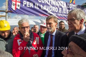 Stamane il sottosegretario Graziano Delrio ha confermato gli impegni del Governo per la soluzione positiva della vertenza Alcoa.