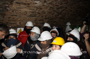 Questa mattina l'assessore dell'Industria ha incontrato le 37 lavoratrici Igea nella Galleria Villamarina di Monteponi.