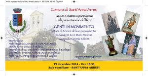 """E' in programma questa sera, alle 18.30, a Sant'Anna Arresi, la presentazione del libro """"Sant'Anna Arresi – Genti in movimento""""."""