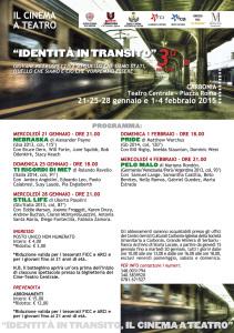 Dopo pochi mesi dal successo del Mediterraneo Film Festival, il cinema torna a teatro con la 3ª edizione di Identità in transito!