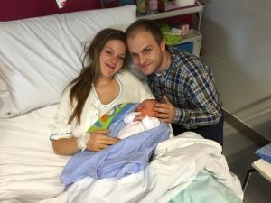 Al Policlinico di Monserrato il primo nato del 2015: si chiama Antonio ed è venuto alla luce a mezzanotte e un minuto con il parto in acqua.