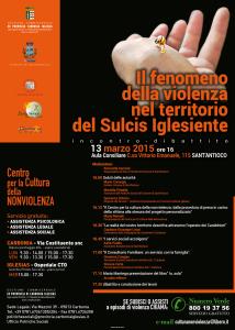Venerdì, a Sant'Antioco, un incontro-dibattito sul fenomeno della violenza nel territorio del Sulcis Iglesiente.