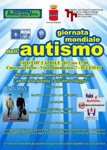 Il 2 aprile Amici della Vita Sulcis, il Comune di Iglesias e l'Ordine dei Medici della Provincia di Cagliari aderiscono alla Giornata mondiale di sensibilizzazione sull'autismo.