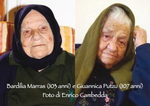 Teulada è sempre più paese di centenari: Bardilia Marras ieri ha compiuto 103 anni, Giuannica Putzu oggi ha tagliato il traguardo dei 107 anni.