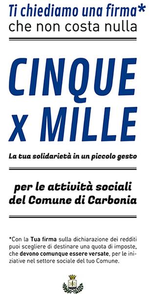 Attività sociali del Comune di Carbonia – 5×1000