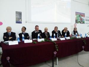 """L'aula magna dell'I.I.S. """"Gramsci Amaldi"""" di Carbonia stamane ha ospitato un convegno sulla sicurezza stradale."""