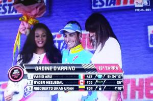 Fabio Aru sul podio 5