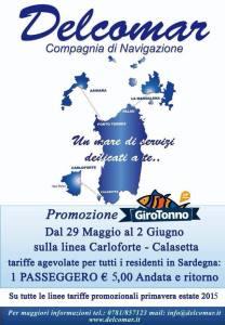 Girotonno 2015 Orari traghetti Delcomar 1