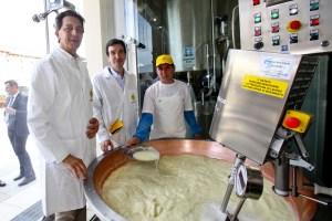 """Al via, da oggi, la produzione del Grana Padano """"made in Expo 2015""""."""
