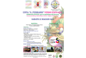 """Sabato 23 maggio, a Iglesias, la giornata evento """"L'Ipia G. Ferraris verso Expo 2015""""."""