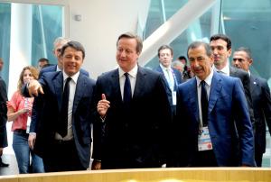 Il Primo ministro della Gran Bretagna, David Cameron, ha visitato oggi l'Esposizione Universale di Milano.