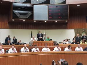 La Dinamo scudettata è stata ricevuta questa mattina in Consiglio regionale.