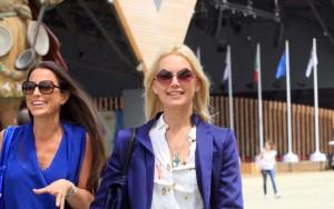 A Expo Milano 2015 la fotomodella argentina Valeria Mazza.