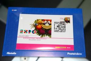 Da oggi Expo Milano 2015 ha il suo francobollo celebrativo.