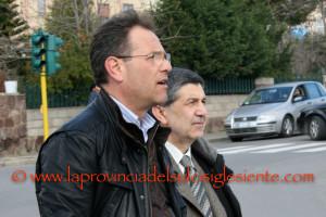 Fabio Ennee l'ex segretario regionale Cisl Mario Medde.
