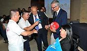 Il presidente della Regione e l'assessore dello Sport hanno incontrato gli atleti sardi che parteciperanno ai prossimi Special Olympics di Los Angeles 2015.