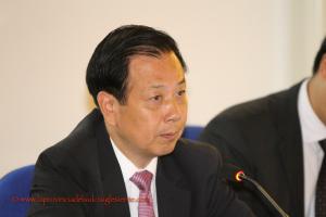 Stamane l'ambasciatore cinese in Italia ha visitato il Centro Ricerche Sotacarbo, presente il vicepresidente della Regione Raffaele Paci.