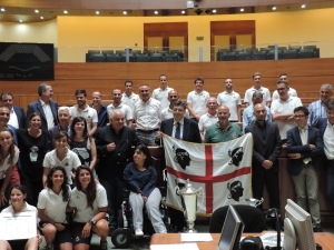 Il presidente del Consiglio regionale ha ricevuto oggi i campioni e le campionesse d'Italia di hockey su prato.