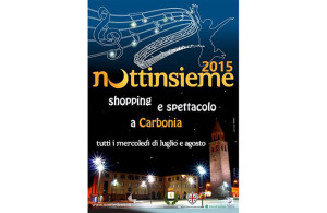 "Mercoledì 12 agosto settimo appuntamento con ""Nottinsieme: shopping e spettacolo a Carbonia""."