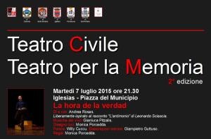 """Al via la seconda edizione del """"Teatro Civile – Teatro per la Memoria""""."""
