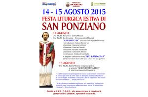E' in programma venerdì 14 e sabato 15 agosto, a Carbonia, la Festa liturgica estiva di San Ponziano.