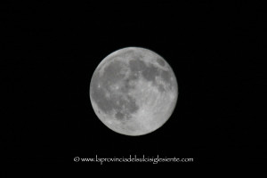La luna del 31 luglio 2015.