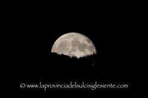La luna del 30 agosto 2015.