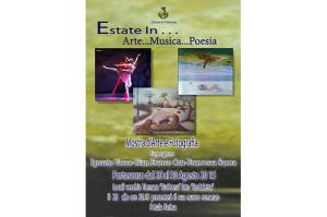 """Verrà inaugurata il 20 agosto, a Portoscuso, la mostra d'arte e fotografia """"Estate in Arte…Musica…Poesia""""."""