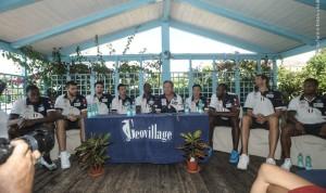 Questa mattina al Geovillage Sport&Resort di Olbia, in esclusiva per stampa e media, sono stati presentati i giganti che vestiranno la maglia Dinamo 2015/2016.