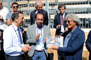 """Il regista Mario Martone premiato per il film """"Pastorale Cilentana"""" in proiezione al Padiglione Zero a Expo Milano 2015."""