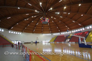 Il presidente della FIP Bruno Perra ha effettuato questo pomeriggio un sopralluogo nel Palazzetto dello sport di via delle Cernitrici, a Carbonia.
