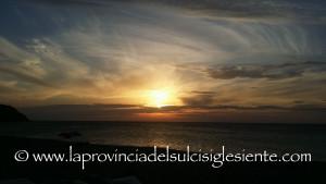 Un tramonto di metà settembre a Porto Paglia.