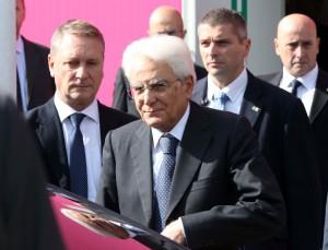 """La """"Giornata Mondiale dell'Alimentazione"""" a Expo Milano 2015 con il presidente Mattarella e il segretario Onu Ban Ki Moon."""