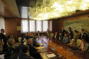 Incontro delegazione sindaci oristanese 1