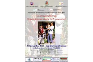 Sabato pomeriggio, a San Giovanni Suergiu, si terrà un seminario sulla salute e l'invecchiamento attivo.