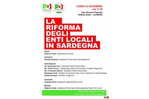 Lunedì sera, a San Giovanni Suergiu, si terrà un incontro sulla riforma degli Enti locali in Sardegna, organizzato dal PD.