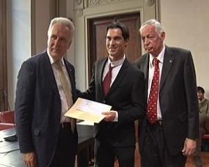 Andrea Corda ha ricevuto questa mattina, a Firenze, il Premio Spadolini Nuova Antologia.