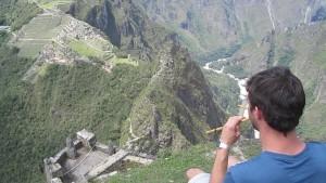 Massimo Congiu a Machu Pichu
