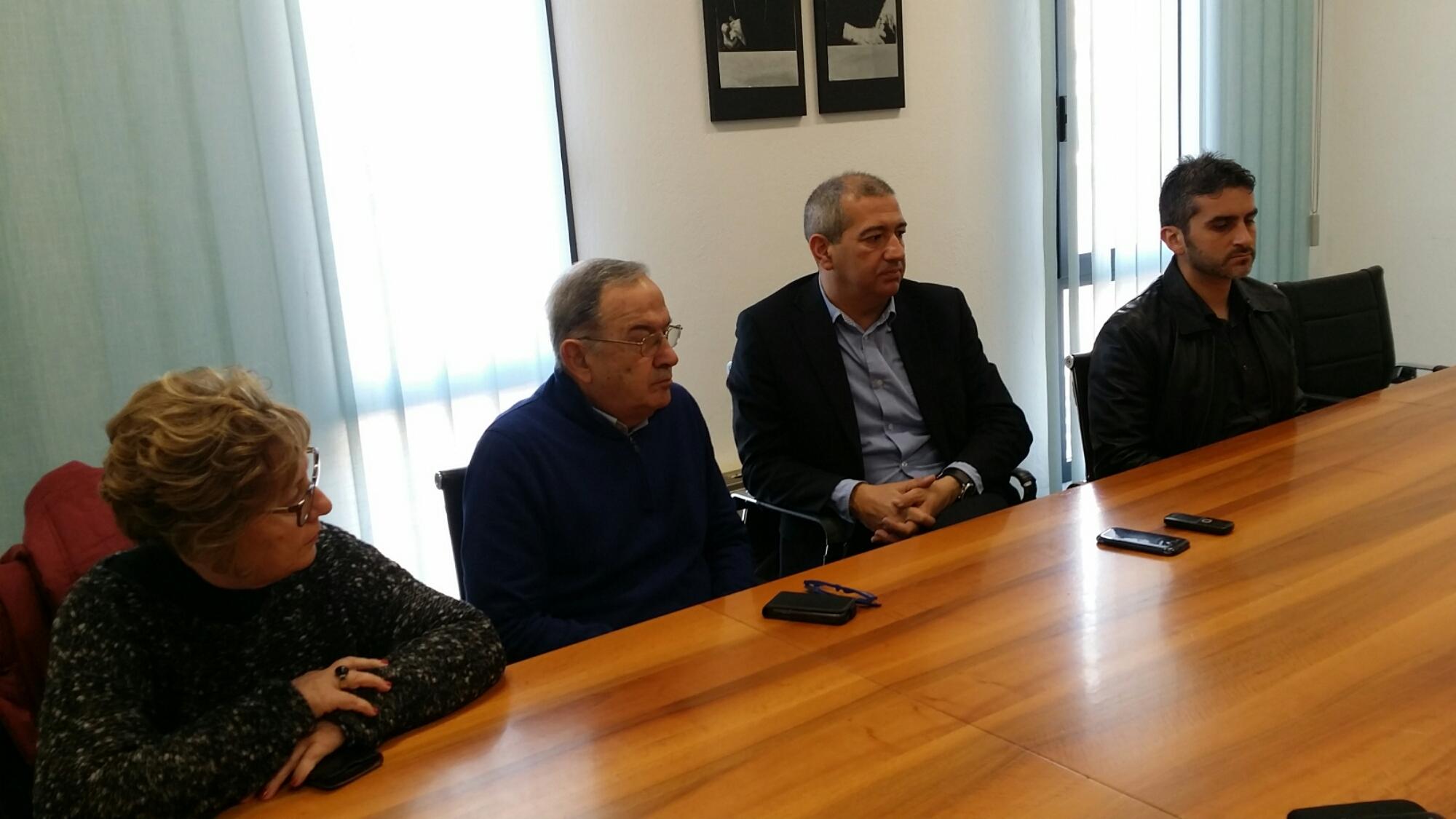 Conferenza stampa di fine anno dell'Amministrazione comunale di Carbonia.