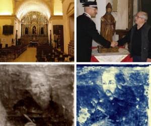 Appello per il ritrovamento delle opere trafugate dalla chiesa di Sant'Agostino, a Cagliari.