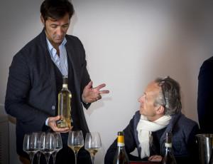 Mario Bonamici organizzatore (associazione Young Sardinia) e Andrew Jefford giornalista Decanter