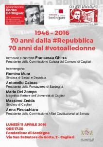 70 anni dalla Repubblica, 70 anni dal voto alle donne