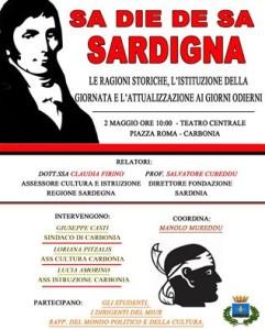 """Il Teatro Centrale di Carbonia ospiterà lunedì 2 maggio, a partire dalle 10.00, un convegno su """"Sa die de sa Sardigna"""" ."""