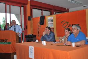 Il confronto pubblico tra i 3 candidati alla carica di sindaco svoltosi il 30 maggio 2016.