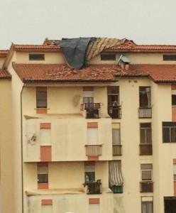 Ha creato ingenti danni la tromba d'aria verificatasi la notte scorsa a Carbonia.