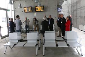 E' stata inaugurata questa mattina la sala d'attesa del Centro intermodale di Carbonia.