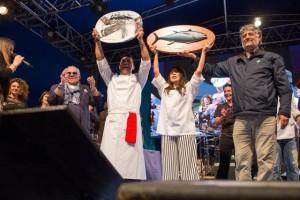 Lo chef peruviano Rafael Rodriguez ha vinto il Tuna Competition del 14° Girotonno, al secondo posto l'Italia, al terzo la Polonia.