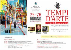 """Conto alla rovescia, a Villamassargia, per """"Tempi d'Arte – Festa della Comunità 2016"""", in programma sabato 25 e domenica 26 giugno."""